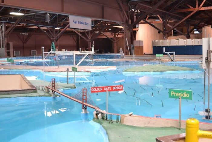 Visit the Bay Model (admission is free!), a 2-acre model of the water environment of the San Francisco Bay and Sacramento-San Joaquin River Delta System that tracks real tides and currents.