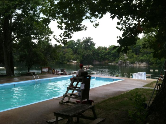 There are two pools at Beaver Dam Swimming Club that are perfect for little ones or for breaks from swimming in the quarry.