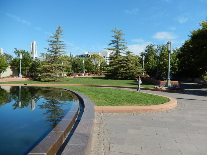 The reflecting pond is a pretty spot, especially in summer months.