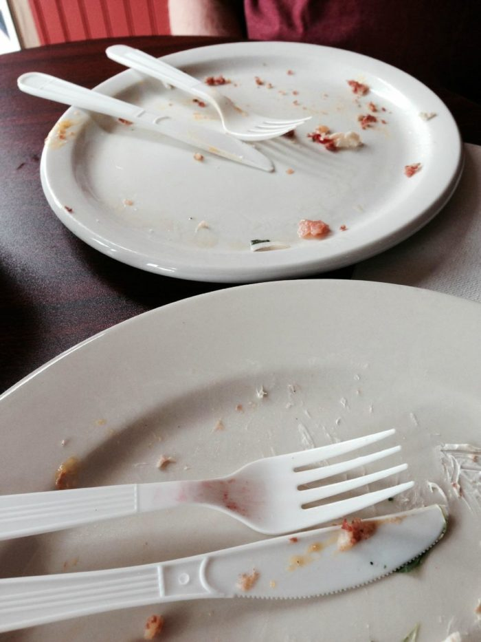 No matter what  you decide to get from Big Mountain Deli & Creperie, the sight of quickly demolished dishes is a common sight here.