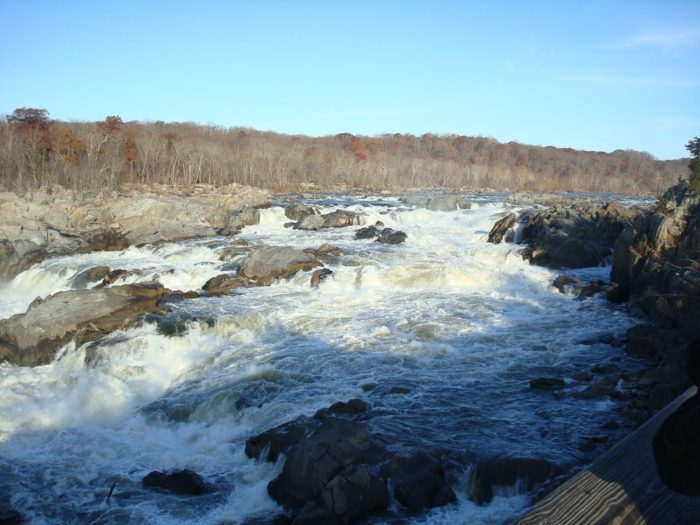 After you've viewed the river and falls, you can turn back to return to your starting point.