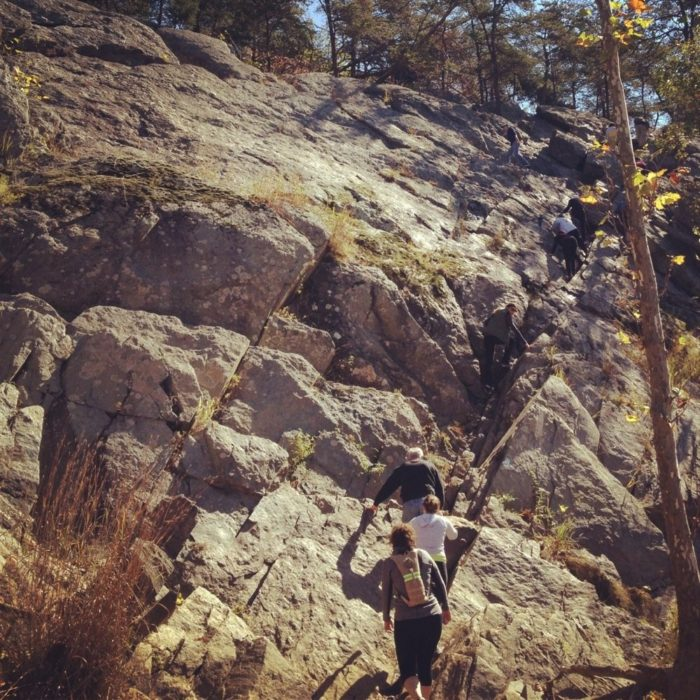 The most difficult parts of the trails are rock scrambles where you often have hop from one large rock to the next. However, many hikers see this as more fun than strenuous.