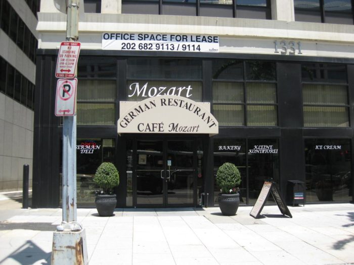 5. Cafe Mozart - 1331 H St NW