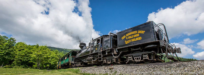 Start your trip with a visit to the Cass Scenic Railroad State Park.