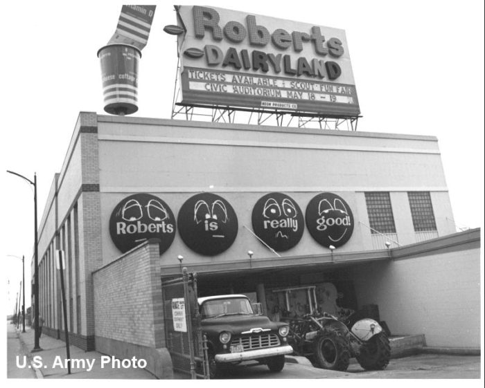 The Roberts Dairy plant at 29th and Cuming streets in Omaha was one such business. These photographs from 1968 show the facility as it was then.