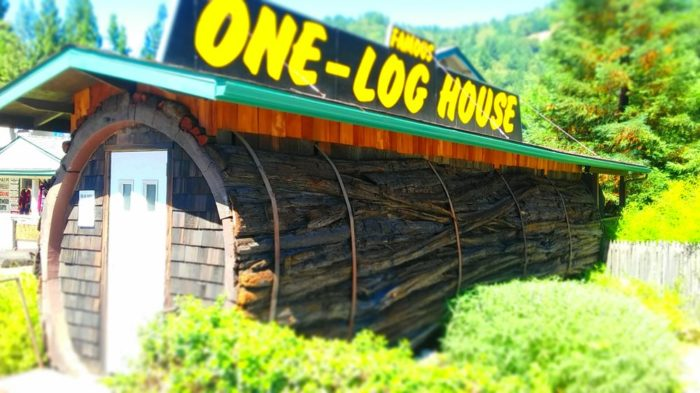 5. One-Log House  705 N Hwy 101Garberville