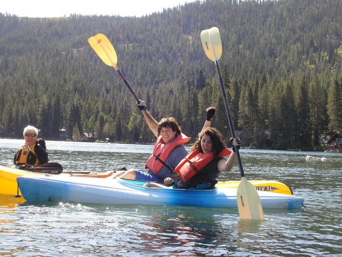 11. Kayak on Lake Tahoe.