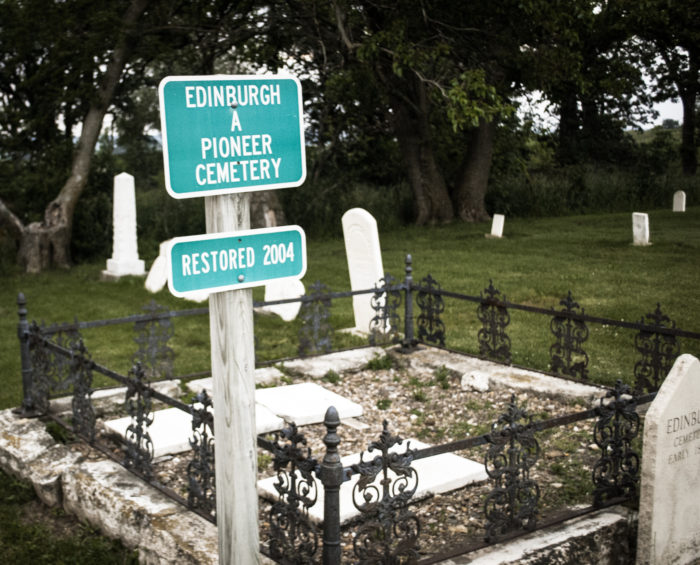 9. The cemetery at Edinburgh Manor, Monticello