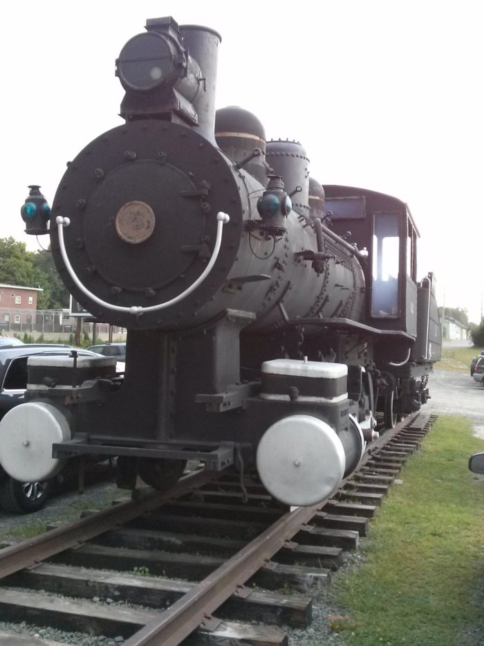 Steaming Tender is built into the original Palmer Union Train Station, and is a train-lover's dream. The first thing you'll spot is a massive locomotive parked outside.