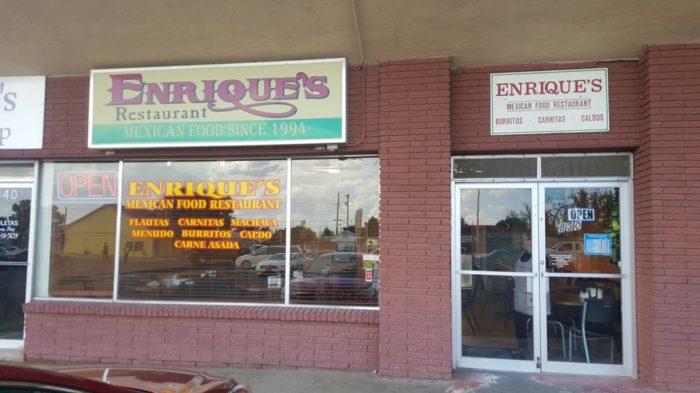 1. Enrique's Mexican Food, 830 W Picacho Avenue, Las Cruces