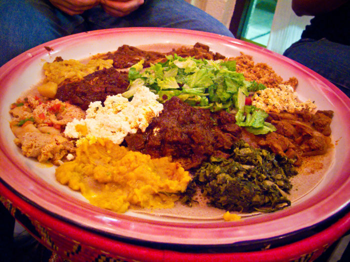 7. We've tried Ethiopian food (and usually love it).