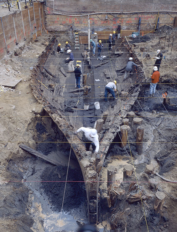Over time, ships like this, an 1840 vessel, have been discovered throughout downtown San Francisco.