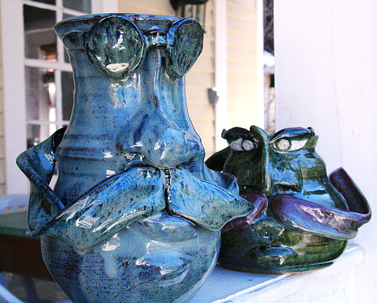 11. Peruse the one-of-a-kind face jugs from The Willows Pottery.