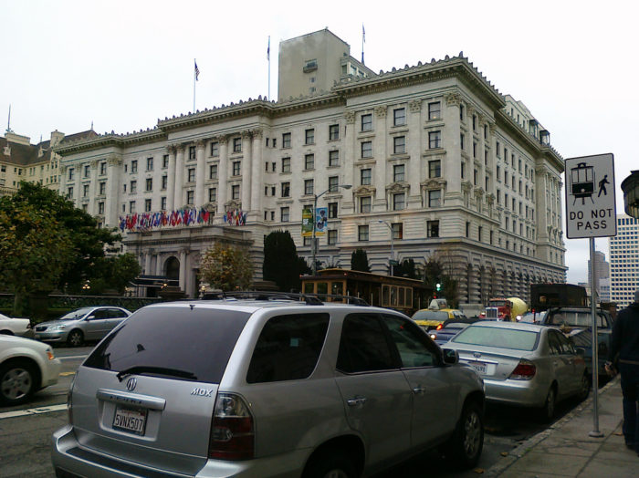 10. Stay a night in the Fairmont Hotel.