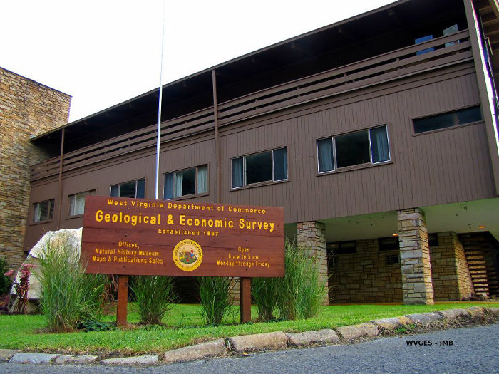 What was once the park lodge is now the West Virginia Geological and Economic Survey.