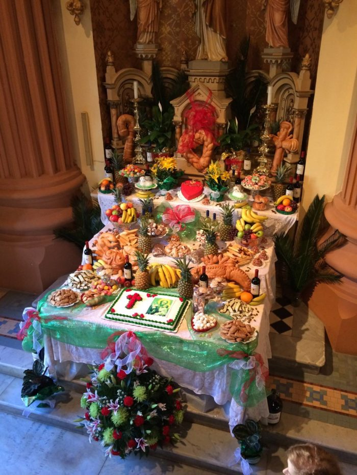 St. Joseph's Day Feast is an opportunity for church members to celebrate and collect items for display on the beautiful altar.