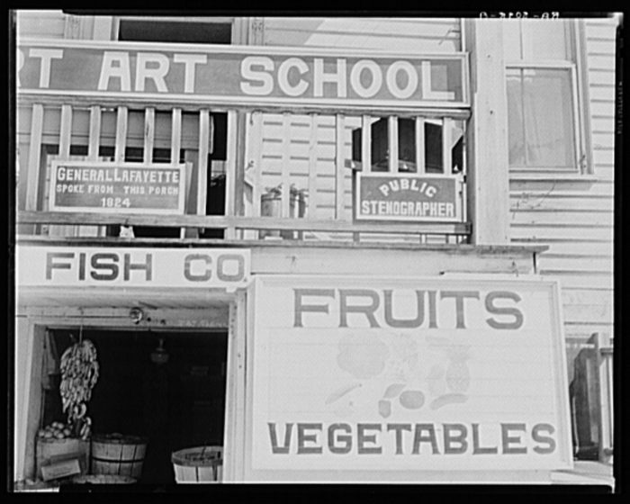 1. A fruit stand and...