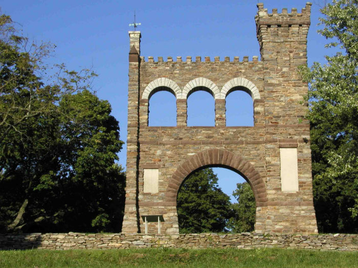 One of the features of Gathland is the War Correspondents Arch. This National historic monument is fifty feet high and forty feet broad.