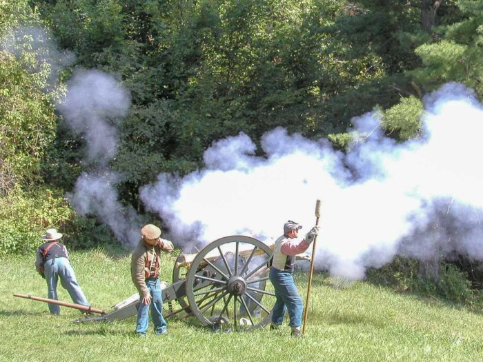 The first major battle of the Civil War in Maryland, Battle of South Mountain, was fought not far from Gathland and you can often find Civil War re-enactors at the park.