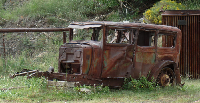 13. The shells of old cars and abandoned buildings are typical sights in New Mexico's many ghost towns.