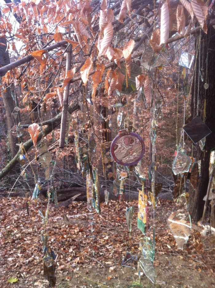 In the middle of your ordinary woods is an array of odd but enchanting sculptures.