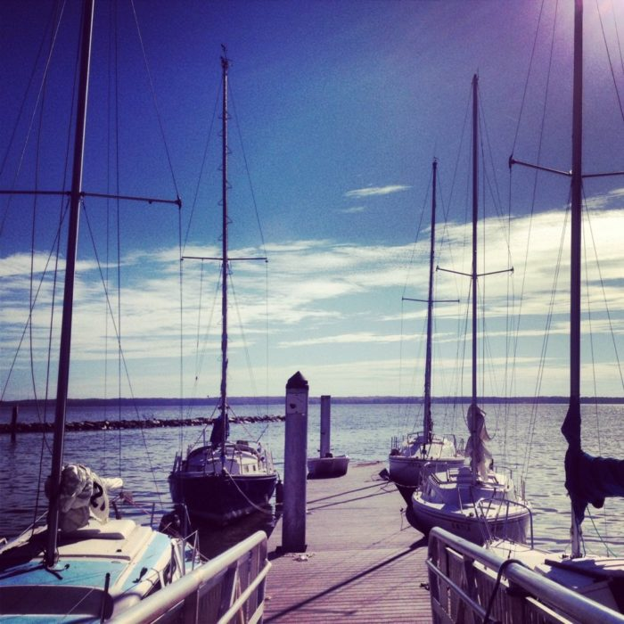 It's a popular place for storing and launching boats, renting sailboats, kayaks or canoes.