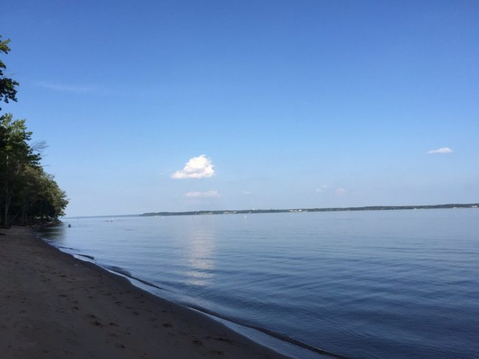 Water lovers enjoy this secret beach for its quiet peacefulness and beautiful views