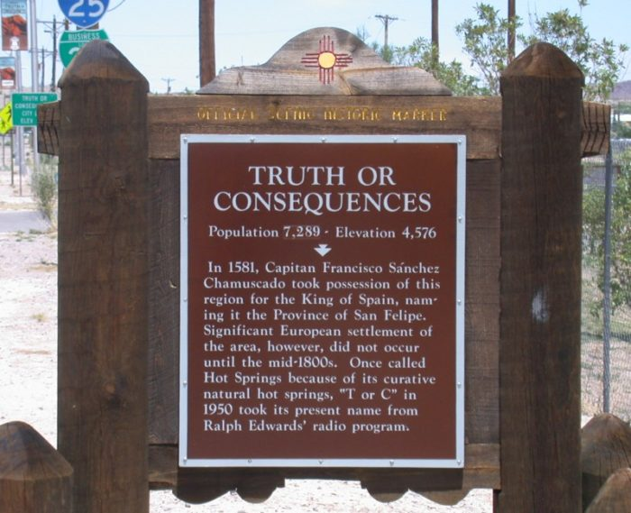Many people wonder about the history of the town's name. This plaque provides some background information.