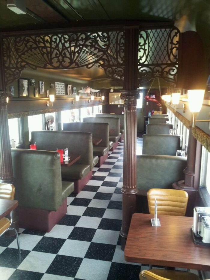 The interior is cozy and never lets you to forget that this diner once rode the rails.