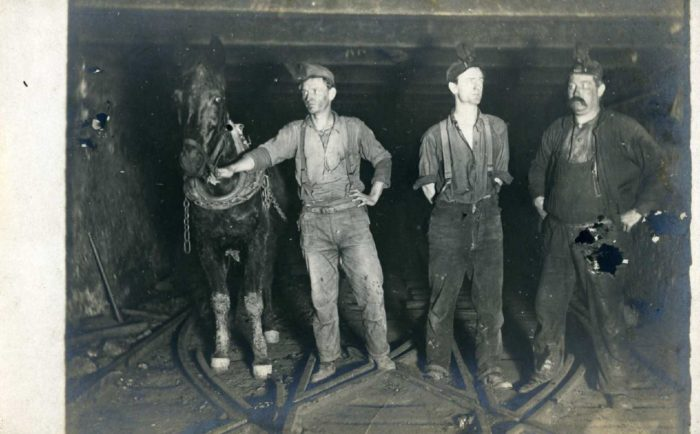 A long time ago, this is what the coal industry looked like in Northern California.