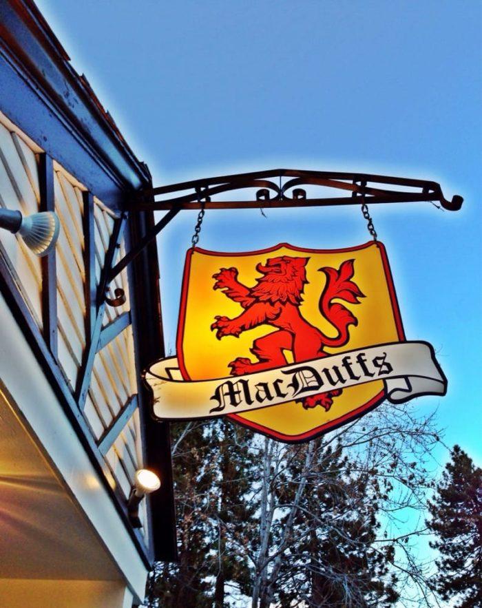 7. MacDuffs Pub  1041 Fremont AveSouth Lake Tahoe