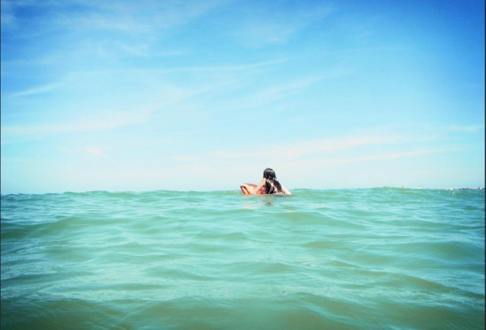 The water is a beautiful blue-green color, a rarity on the Texas Gulf Coast.