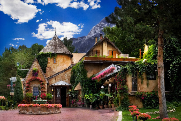 La Caille is a great place to be in the summer - cool and relaxing.