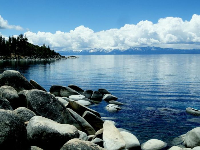 As desirable as the desert can be, there's nothing like escaping away to the clear blue water of Lake Tahoe.
