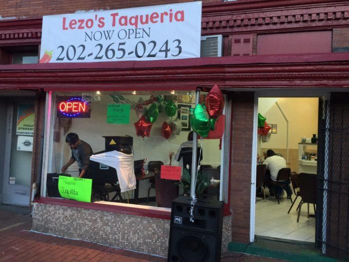 7. Lezo's Taqueria - 3213 Mount Pleasant St NW