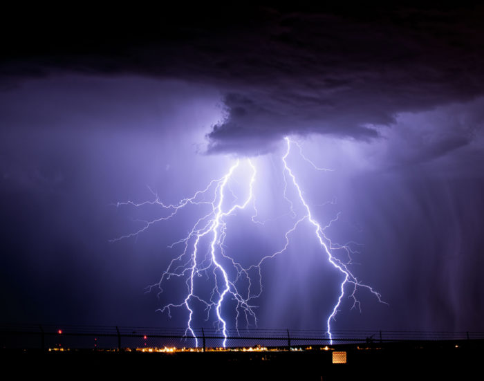 12. In the summer, during monsoon season, lightning storms are an almost daily event.