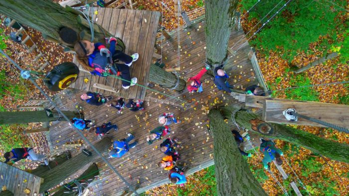 Another feature of Ellicottville and Holiday Valley? The Sky High Adventure Park!