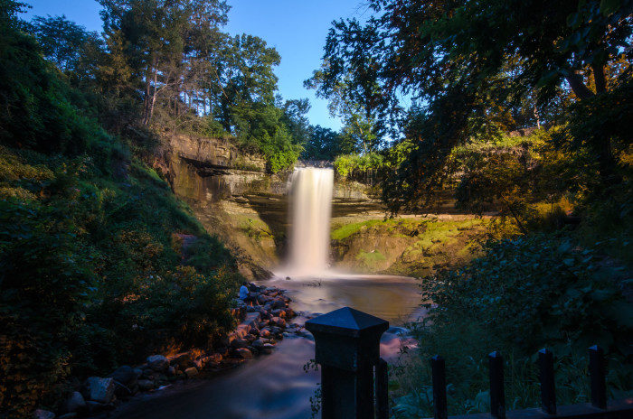 12. Minnehaha Falls has viewing areas from above that are just a few steps away from the parking lot!