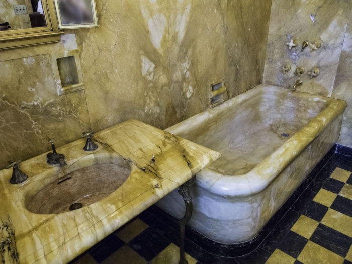15. There is a marble bathtub in the basement of the Capitol.