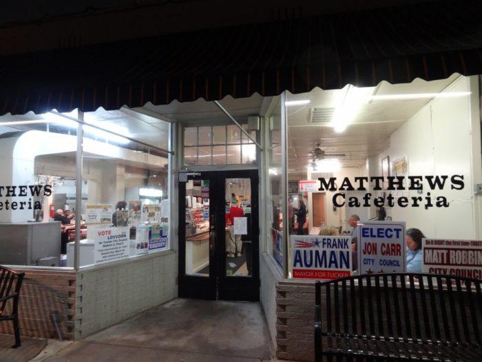 5. Matthews Cafeteria—2299 Main St, Tucker, GA 30084