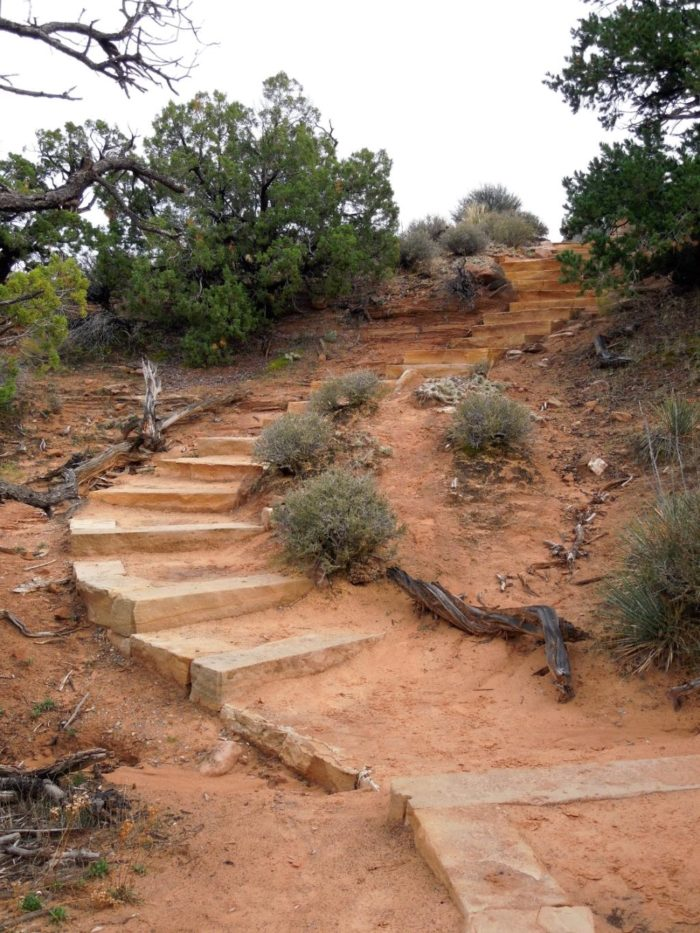 The trail is fairly easy, though there are a few steep spots.