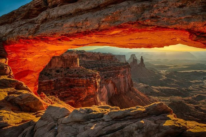 Sunrise provides a unique photo opportunity. Check out some of these visitor photos!