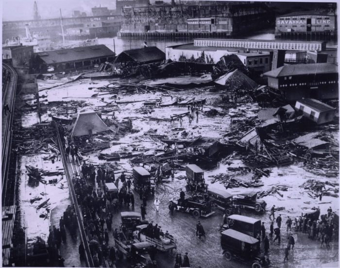 4. The North End was once flooded with molasses, killing 21 people and injuring more than 100 more.