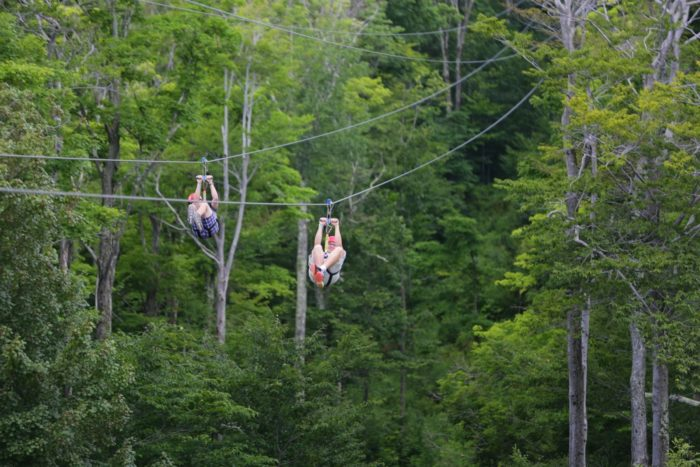 11. So the Adirondack canopy walk wasn't enough for you, huh? Perhaps its time to take on New York Ziplines at Hunter Mountain!