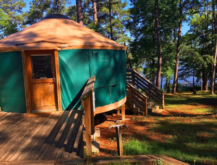 High Falls State Park offers more than 100 different campsites, not to mention six yurts and a ton of other primitive camping options.