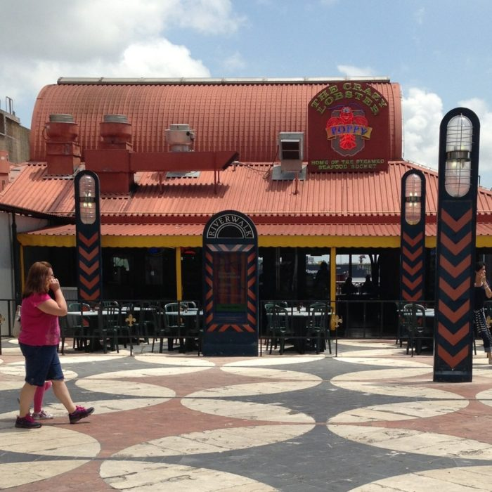 The Crazy Lobster can be found at 500 Port of New Orleans Place.
