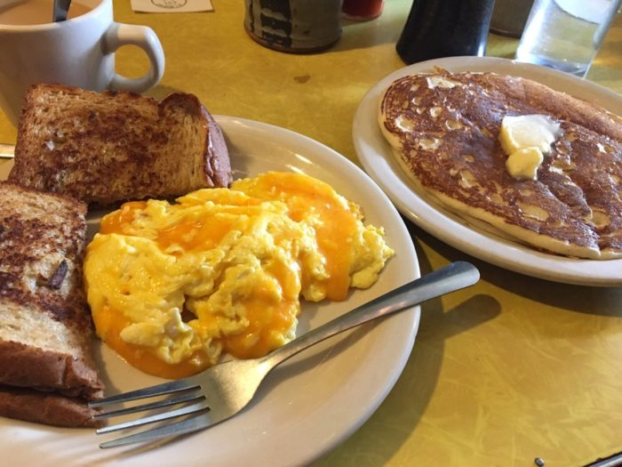 There are always some delicious seasonal meals, but the favorites are definitely the pancakes and omelets.