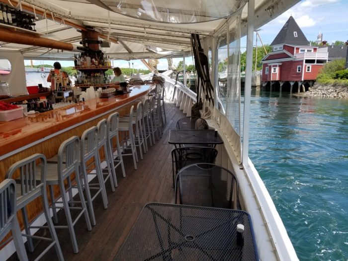18. Enjoy the outdoors from the comfort of your dinner table at The Spirit Restaurant, Kennebunk.
