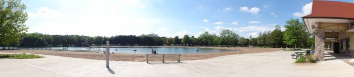 Green Lakes State Park features a large, beautiful beach that is open now through September 5th!