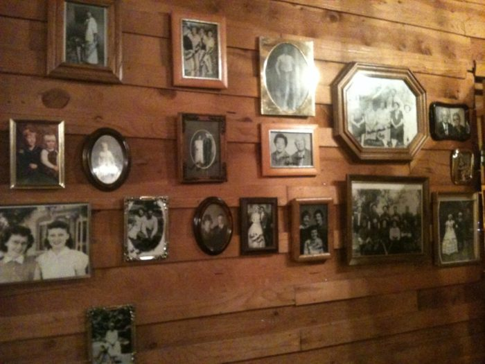 Leslie's features a large wall with old family photographs. Maybe some of them are haunting the restaurant?